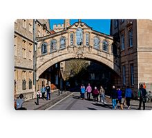 Bridge of Sighs 2 (Oxford) Canvas Print