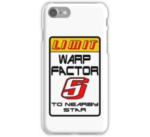 Starfleet Speed Limit Sign iPhone Case/Skin