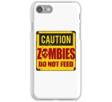 Bloody Zombies Caution Sign iPhone Case/Skin