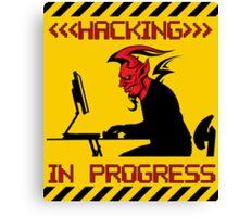 Devil Hacking in Progress Canvas Print