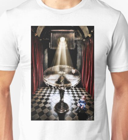 The Alice Series: A Glass Table Unisex T-Shirt