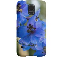 Sapphire Blues and Pale Greens - a Showy Delphinium Samsung Galaxy Case/Skin