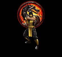 Mortal Kombat Scorpion iPad Case by Bergmandesign