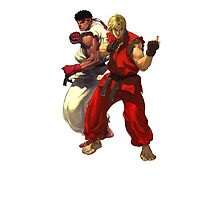 Ryu & Ken Streetfighter iPad case by Bergmandesign