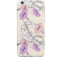 Pansies and Pink Bindweed iPhone Case/Skin