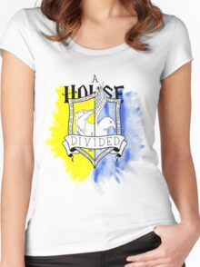 Wizard House Divided {Loyal & Smart} Women's Fitted Scoop T-Shirt