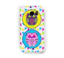 Sleepy Owls and Geometric Patterns Samsung Galaxy Case/Skin