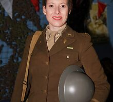 Army uniform at party at the blitz by Keith Larby