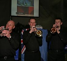 Biggin Hill Concert Band trumpeters by Keith Larby