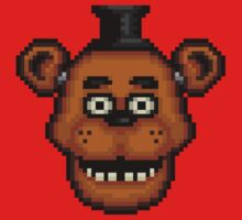 Five Nights at Freddy's 1 - Pixel art - Freddy One Piece - Long Sleeve