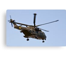 Helicopter from the Danish Air Force. Canvas Print