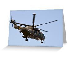 Helicopter from the Danish Air Force. Greeting Card
