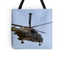 Helicopter from the Danish Air Force. Tote Bag