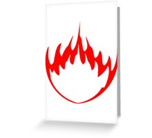 Fire flame burning hot Greeting Card