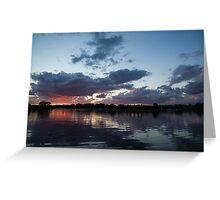 Sunset Afterburner Greeting Card