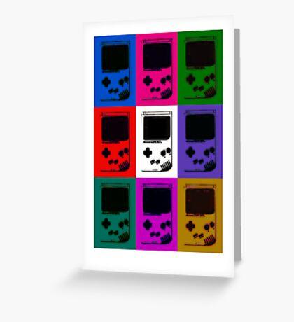 Nintendo Game Boy Classic Pop Art Greeting Card