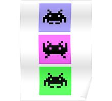 Space Invaders Trio Poster