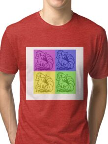 Pokemon Ninetales Pop Art Quad Tri-blend T-Shirt