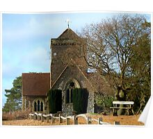 St Martha on the Hill, Near Chilworth, Guildford Poster