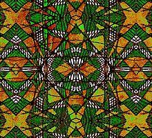 Geometric Glass Mosaic Pattern by DFLC Prints