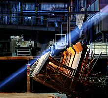 5.4.2014: Light Beam in Abandoned Steel Factory by Petri Volanen