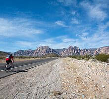 Biking to Red Rock Canyon by Carol Fan
