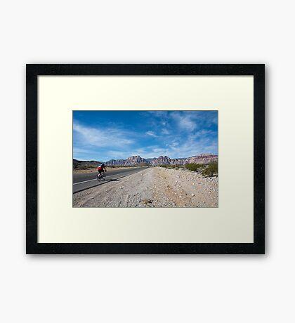 Biking to Red Rock Canyon Framed Print