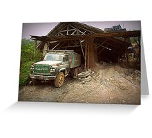 Old Nissan Truck Greeting Card