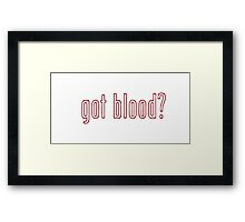 The Walking Dead - Got blood? : Outline Framed Print