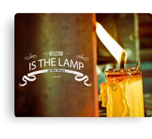 Reflection Is The Lamp Of The Heart  Canvas Print