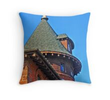 Old Fire House Tower Throw Pillow