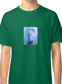 Wolf Silhouette Howling Classic T-Shirt