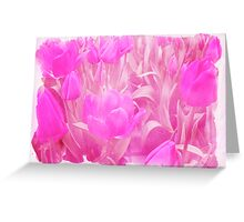 Hot Stuff - In Your Face PINK TULIPS Greeting Card