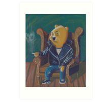 Smoking Winnie The Pooh Art Print
