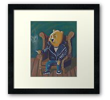 Smoking Winnie The Pooh Framed Print