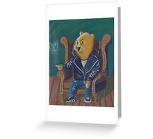 Smoking Winnie The Pooh Greeting Card