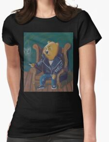 Smoking Winnie The Pooh Womens Fitted T-Shirt