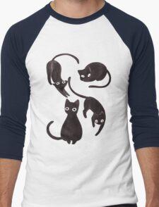 cats Men's Baseball ¾ T-Shirt