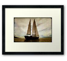 sailboat sailing Framed Print