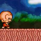 Bonk / BC Kid retro painted pixel art by smurfted