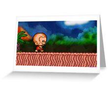 Bonk / BC Kid retro painted pixel art Greeting Card