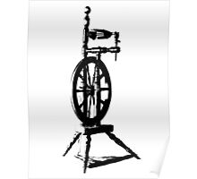 High Contrast Spinning Wheel Poster