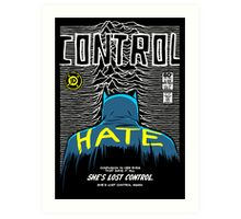 Post-Punk Bat: Control Art Print