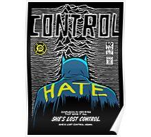 Post-Punk Bat: Control Poster