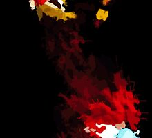 Iron Man Minimalist Splatter Art by Mcbearcat7557