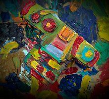 retro painted camera by laikaincosmos
