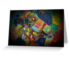 retro painted camera Greeting Card