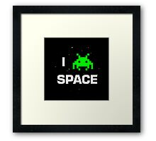 I heart Space Framed Print