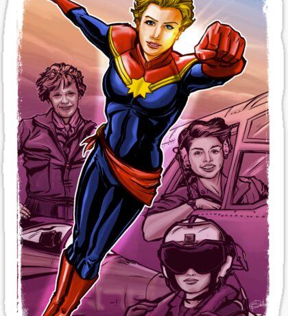 Marvelous Captain Sticker