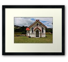 Abandoned church at Tadmor Framed Print